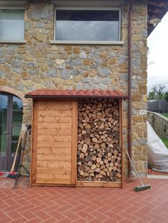 legnaia e porta atrezzi