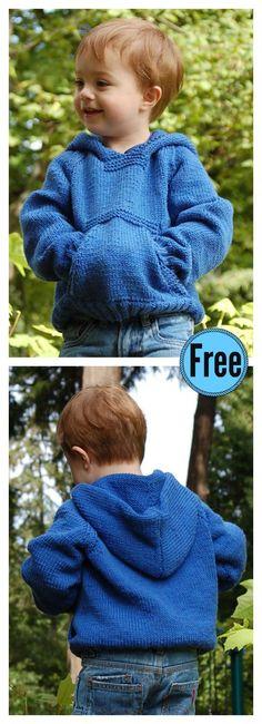 Kids Playtime Pullover Hoodie Free Knitting pattern #freepattern #knitting #Sweater