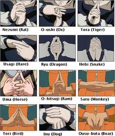 Naruto hand signs