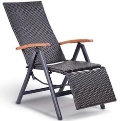 This is brand new rattan lounge chair which a great additional to your outdoor living space. It is perfect for sleeping, relaxing and relief. Made of aluminum frame, this rattan lounge chair is sturdy and durable. High back with Garden Recliner Chairs, Garden Recliners, Folding Lounge Chair, Lawn Chairs, Outdoor Chairs, Outdoor Furniture, Rattan Chairs, Garden Furniture, Adirondack Chairs