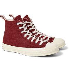 7c375f5f62b CONVERSE 1970S CHUCK TAYLOR ALL STAR FELT HIGH-TOP SNEAKERS.  converse   shoes