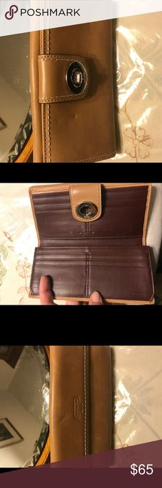 Tan coach wallet Tan coach wallet used but in fair condition Coach Bags Wallets