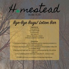 Say Bye-Bye to bugs with this homemade lotion bar!