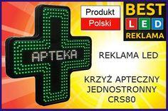 Krzyż apteczny Podświetlany LED Apteka Reklama