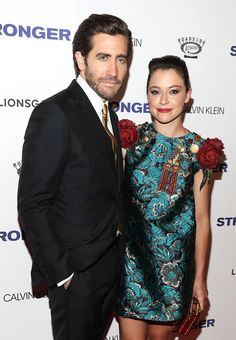 Jake Gyllenhaal and Tatiana Maslany attend the premiere of 'Stronger' at Walter Reade Theater on September 14, 2017 in New York City.