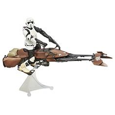 """Star Wars Black Series 6"""" Speeder Bike. Amazon. Purchased September 27, 2014. $35.49. Another guy added to my husband's Black Series collection. - Liz"""