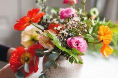 floral arranging DIY