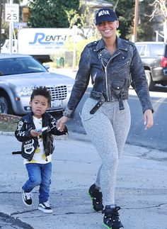 Amber Rose Daily           - CUTENESS ON POINT ! Amber Rose with her son...