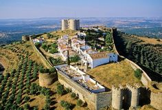 Evora- Monte #castle and village within walls Estremoz #Portugal