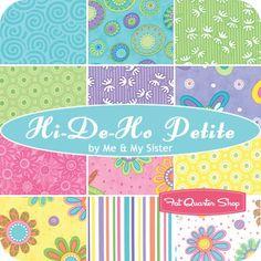 Hi-De-Ho Petite Fat Quarter Bundle<BR>Me and My Sister Designs for Moda Fabrics