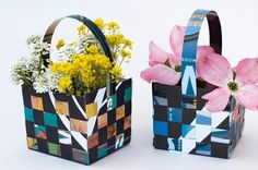 May Day Baskets-magazine covers Holiday Crafts, Holiday Fun, Fun Crafts, Crafts For Kids, Paper Crafts, Diy Paper, Easter Coloring Sheets, Easter Colouring, Childrens Workshop