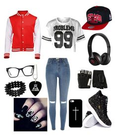"""#SWAG"" by gurveenpanesar ❤ liked on Polyvore featuring River Island, Casetify, Beats by Dr. Dre, Majesty Black, Spitfire and Hot Topic"
