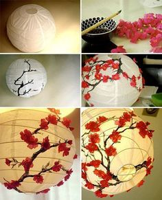 creer une lampe chinoise