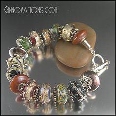 My favorite bracelet, full of handmade beads!