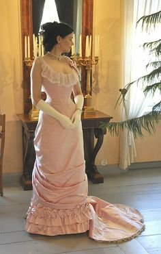 Late 1870s/early 1880s evening gown