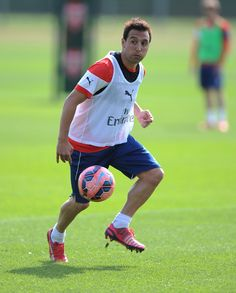 Arsenal train ahead of FA Cup semi-final: Santi Cazorla