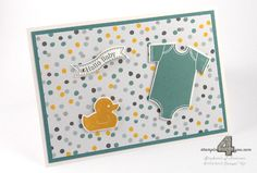 Stampin' Up! Card Baby Karte zur Geburt Something for Baby Mondschein