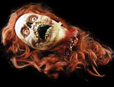 MOVIE QUALITY FEMALE DECAPITATED HEAD Halloween Prop-Horror Dome