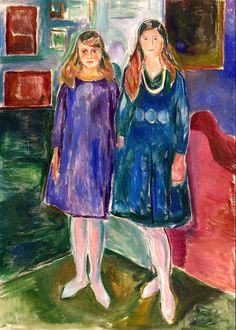 bofransson:  Two Teenagers Edvard Munch - 1919