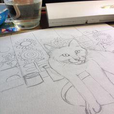Para desenhar gatos preciso praticar Baseado na foto de um gatinho Rafael Estou aprendendo com voc dwgdaily
