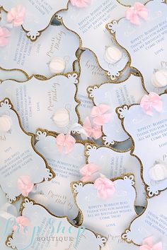 Girl's Cinderella Thank you Favor Tags by propshopboutique on Etsy