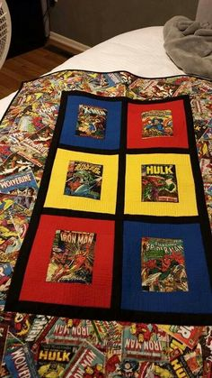 Marvel comic quilt