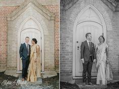 Beautiful couple. Indian and Jewish Interfaith wedding – Enoch Turner Schoolhouse – Toronto