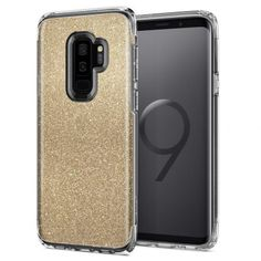 Husa slim Samsung Galaxy Plus Spigen auriu sclipici - TotalMobil Samsung Galaxy S9, Galaxies, Quartz, Glitter, Slim, Iphone, Crystals, Products, Crystal