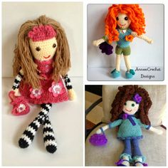 Free Crochet Patterns and Designs by LisaAuch: 20+ FREE Crochet Doll Patterns…