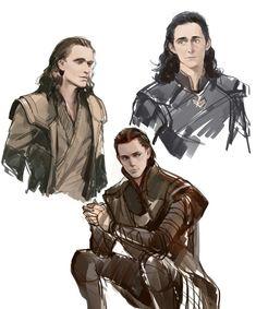 Loki Sketch by coralliu