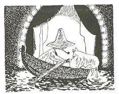 """""""-Hei, hei! vastasi Nuuskamuikkunen. Hypää veneeseen, niin saat nähdä miten hemulista selvitään!"""" Vaarallinen juhannus"""