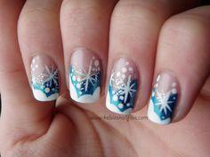 Kelsie's Nail Files: #christmas #snow #nailart