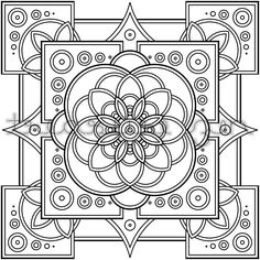 Religious mandala coloring pages on pinterest ~ Free Printable Art Deco and Art Nouveau Patterns ...