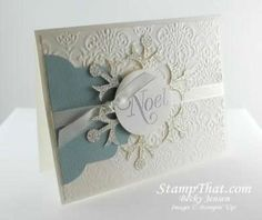 Stampin' Up Christmas Card  by Becky Jensen at Stamp That