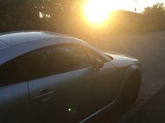 Audi TT in the sunset