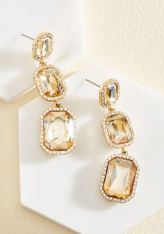 It's About Shine! Earrings in Champagne, @ModCloth