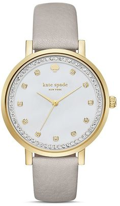 Kate Spade Monterey Leather Strap Watch, 38mm