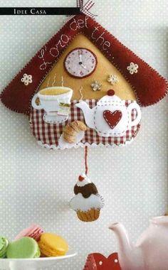 Crafts To Do, Felt Crafts, Home Crafts, Diy Crafts, Felt Christmas Decorations, Christmas Crafts, Christmas Ornaments, Sewing Crafts, Sewing Projects