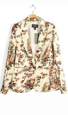 cute floral blazer style.. perfect for summer and spring for making a fresh outfit.. go with everything :)