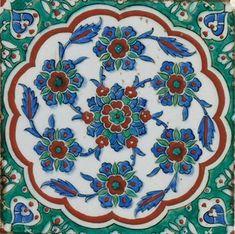 An Iznik pottery tile panel, Ottoman Turkey, circa 1585. Photo Christie's Image Ltd 2010