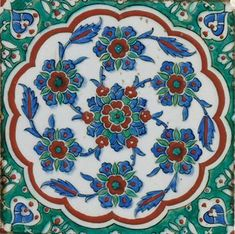 An Iznik pottery tile panel, Ottoman Turkey, circa 1585. Photo Christie's Image Ltd 2010