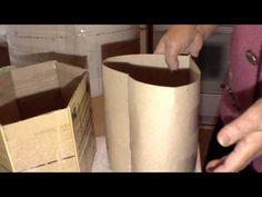 Fabricacion de una forma de carton para cesteria de periodicos. Parte 2.