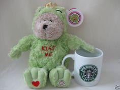 Kiss Me Frog Starbucks Bearista