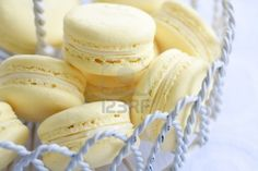 Lemon macarons Stock Photo - 9215562