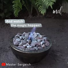 This DIY outdoor fire pit will be the centerpiece of your garden! BY: Master Sergeich This DIY outdoor fire pit will be the centerpiece of your garden! BY: Master Sergeich Concrete Crafts, Concrete Garden, Concrete Planters, Rock Planters, Concrete Fire Pits, Garden Crafts, Diy Garden Decor, Garden Projects, Garden Tools