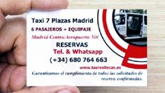 Taxi 7 Plazas Madrid