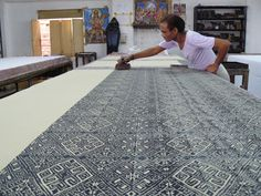 Blockprinting in India - Do they ever get nervous the further along they get, like you don't want to mess up later on.