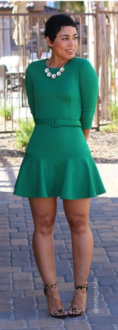 DIY Little Green Dress & Belt + Franken-pattern Info / Mimi G.