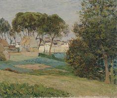 Maxime Maufra (French 1861–1918) [Landscape, Marine] Douarnenez Paysage d'Octobre, 1896. Dallas Museum of Art.