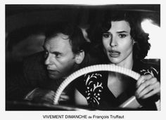 Jean-Louis Trintignant and Fanny Ardant in François Truffaut's Confidentially Yours (1984).